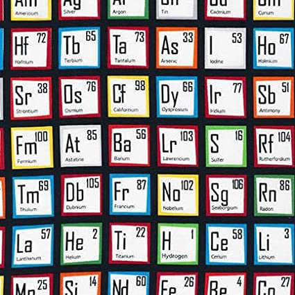 robert kaufman science fair periodic table multi fabric by the yard multicolor