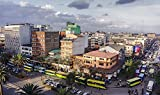 Gifts Delight LAMINATED 40x24 inches POSTER: Nairobi Kenya Street Crowded Africa City Urban Business District Downtown Car Commercial Day