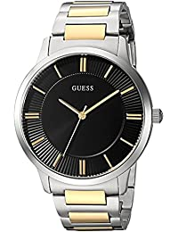 GUESS Men's Quartz Stainless Steel Dress Watch, Color:Two Tone (Model: U0990G3)