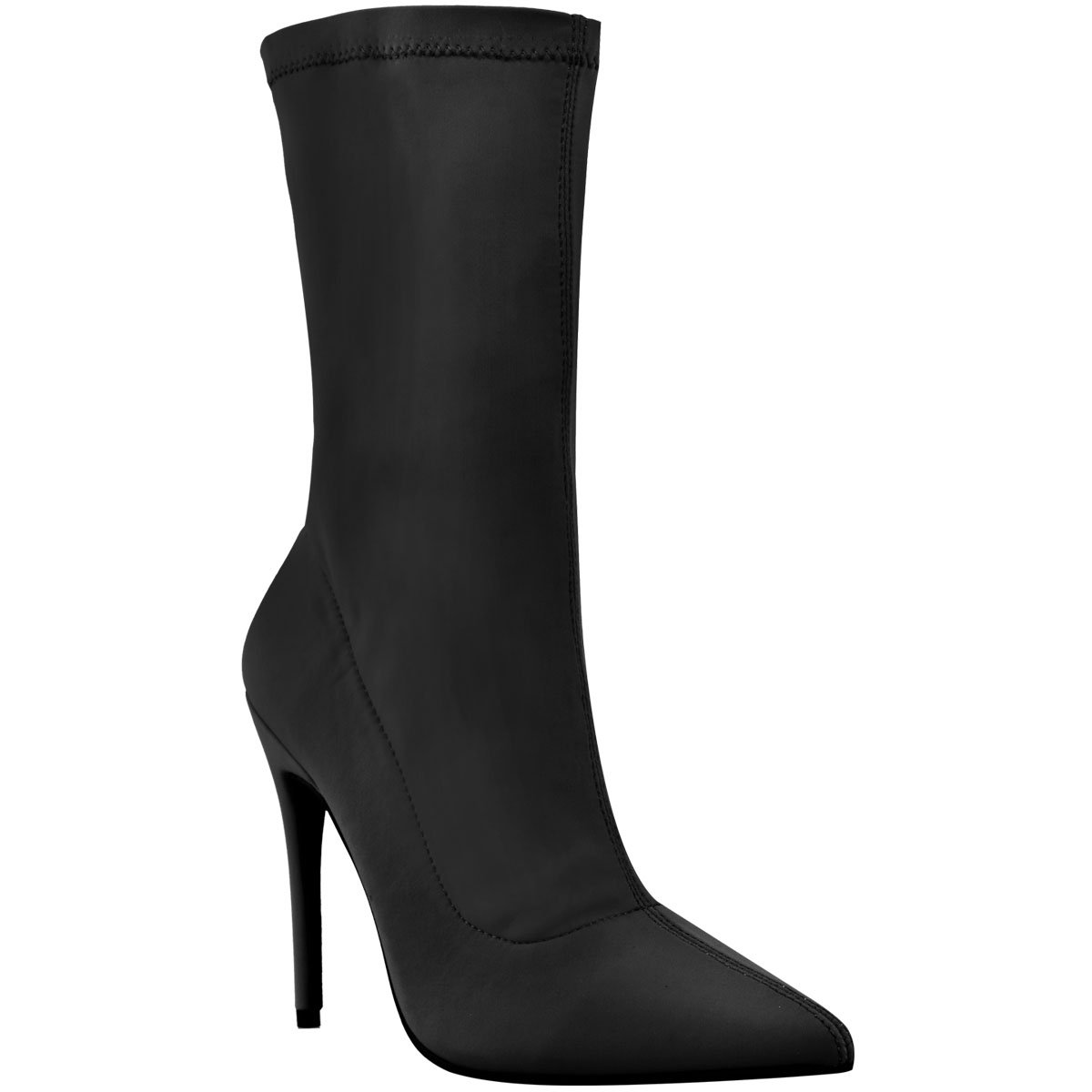 a0f15ab0966 Fashion Thirsty Womens Ladies Ankle Boots Stretch Lycra Stiletto High Heels  Pointed Toe Shoes  Amazon.co.uk  Shoes   Bags