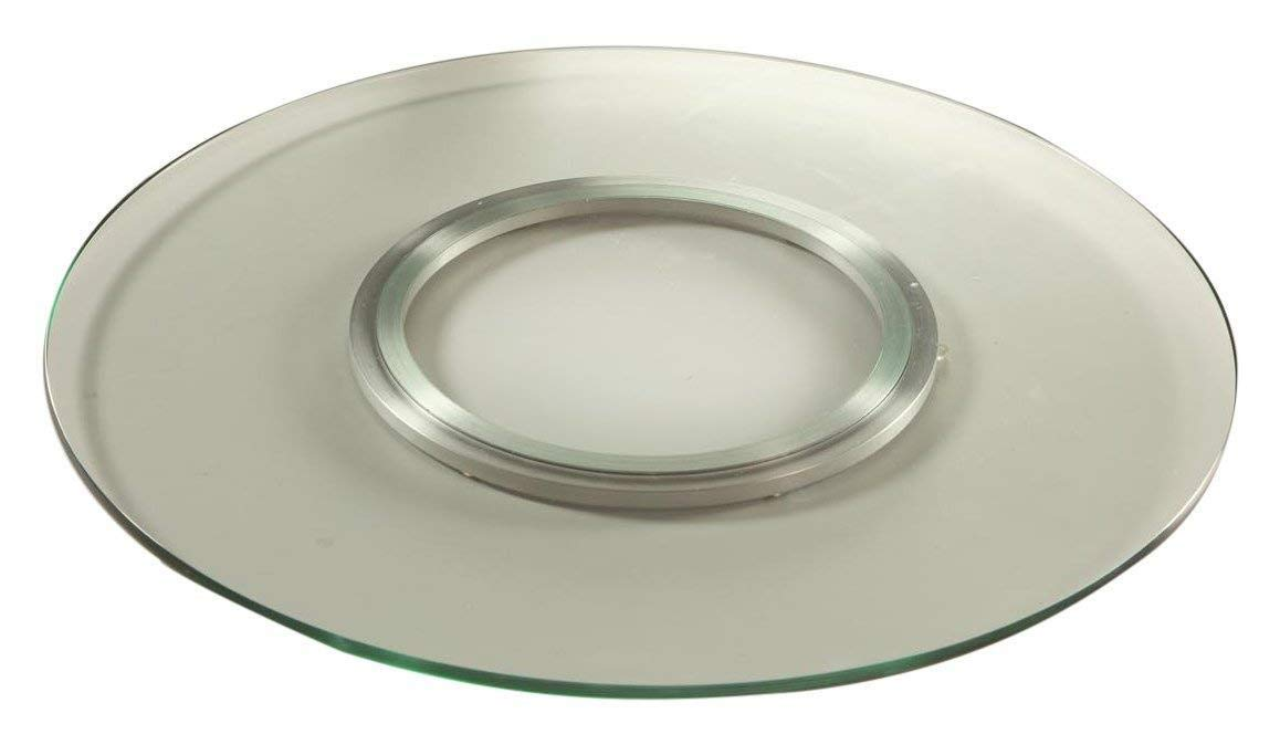Chintaly Imports Round Spinning Tray, 24-Inch, Clear by Chintaly Imports