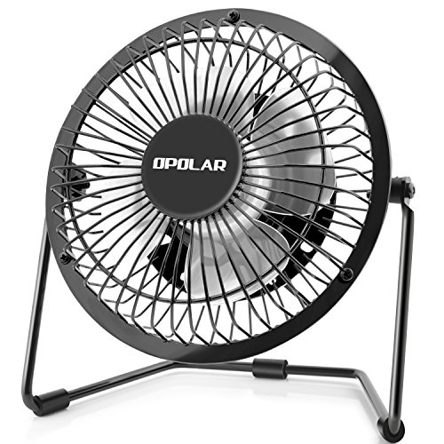 OPOLAR 4 Inch USB Desk Fan with 2 Setting, Metal Design, Quiet Operation for Office Home