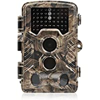 Crenova Trail Camera Hunting Camera 16MP 1080P Scouting Camera with Low Glow Black Infrared LEDs, Color View, 80ft Detection Range and 125°Detection Angle