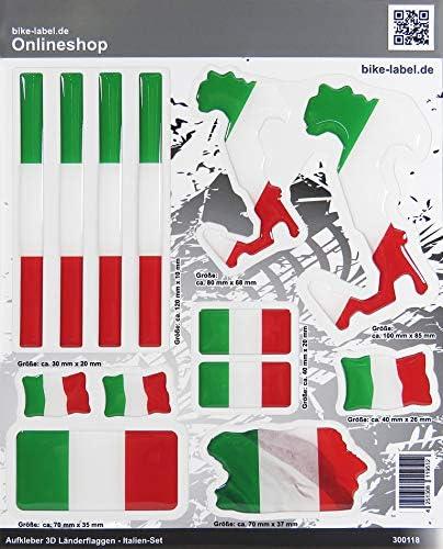 Bike Label 300118n 3d Aufkleber Länder Flaggen Italia Italien Sticker Set Mit 7 Formen Auto