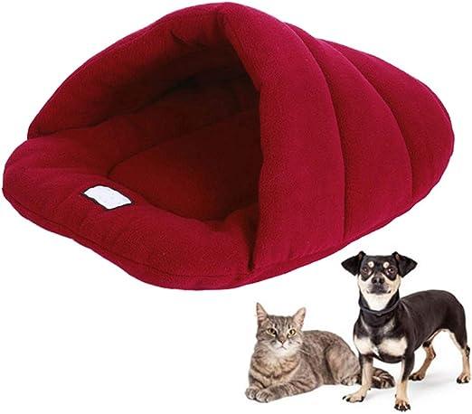 New_Soul Saco de Dormir para Perros o Gatos Mascotas Suave y Cálida Cama con Factor de Carbón de Bambú Puede Absorber el Olor M L (M, Vino Rojo): Amazon.es: Productos para mascotas