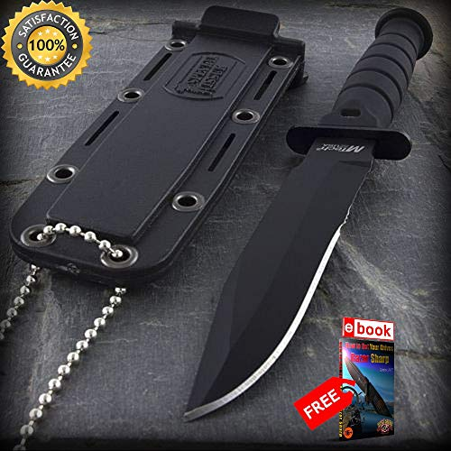 6-MTECH-USA-TACTICAL-MINI-NECKLACE-SHARP-KNIFE-Survival-Pocket-Boot-Neck-Fixed-Blade-Combat-Tactical-Knife-eBOOK-by-Moon-Knives