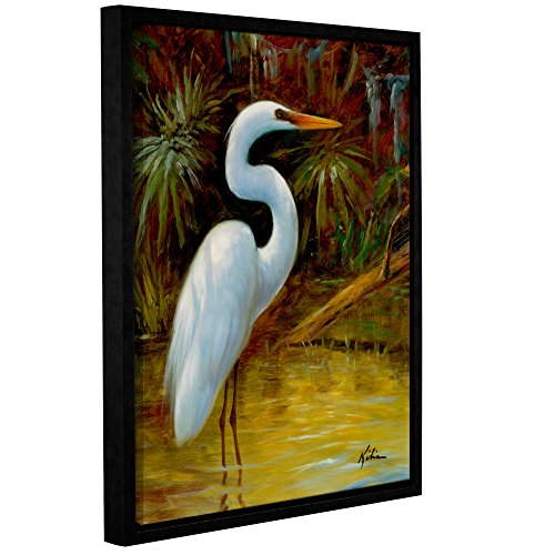 Kilian's Tropical Egret I, Gallery Wrapped Floater-Framed canvas 18x24