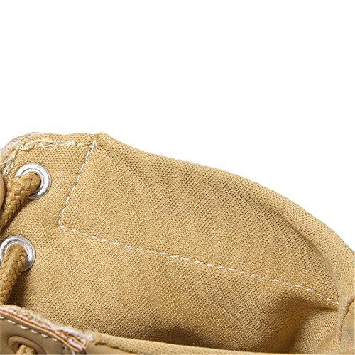 Chiusa Ageemi Caldo Giallo Shoes Pelliccia Donna Stringati Stivali Tonda Punta Inverno xgtCgwqr7