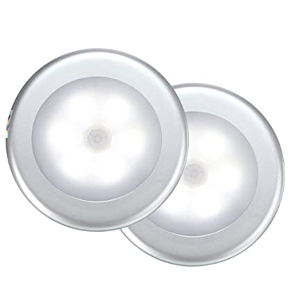Sensor de movimiento luz, egoera® Wireless LED Detector de movimiento PIR Luz Lámpara,