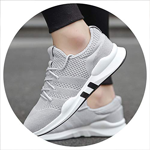 Men Casual Shoes Breathable Male Sneakers Adult Non-Slip Men's Shoes 3 Colors Gray 8 (Kaufen Ray)