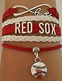 Boston Redsox Bracelet, Redsox Jewelry, Perfect Baseball Gift