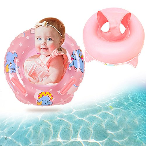 Price comparison product image Eonkoo Summer New Baby Swimming Pool Float Seat Boat Inflatable Swimming Rings Pvc Fabric Handle Safety Seat Lifebuoy for Toddler Children Sunshade Swim Toy Set