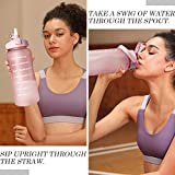64 OZ/Half Gallon Motivational Water Bottle with