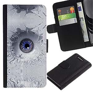 EuroCase - Sony Xperia Z1 Compact D5503 - Abstract Eye Splash - Cuero PU Delgado caso cubierta Shell Armor Funda Case Cover