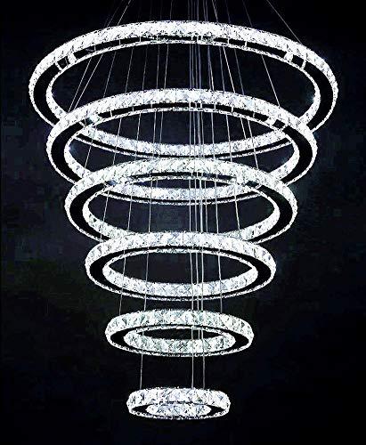 Moooni Modern Crystal Chandelier Lighting Galaxy Series 6 Rings 8