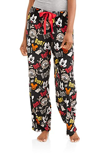 Halloween Fleece - Richard Leeds International Halloween Disney Mickey Mouse Black Super Minky Fleece Sleep Pants (Medium)