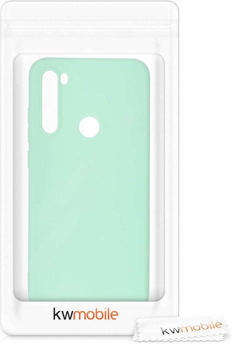 Carcasa de TPU Silicona Protector Trasero en Azul Profundo kwmobile Funda Compatible con Xiaomi Redmi Note 8T