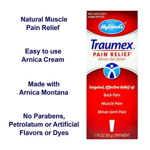 Hyland's Traumex Arnica Cream, Natural Muscle Pain Relief and Minor Joint Pain, 1.76 -
