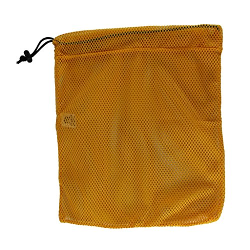 Mesh Gold Bag (SGT KNOTS Mesh Bag (Small) 550 Paracord Drawstring Bag - Ventilated Washable Reusable Stuff Sack for Laundry, Gym Clothes, Swimming, Camping, Diving, Travel (15 inch x 22 inch - Gold))