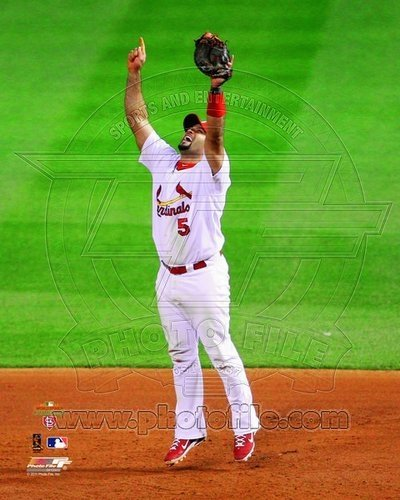Albert Pujols St Louis Cardinals MLB 8x10 Photograph 2011 World Series Last Out