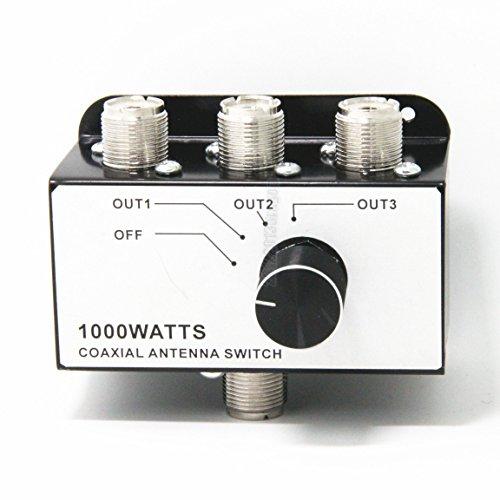 Ancable 1000 Watt 3 Position CB RADIO COAX Antenna SWITCH