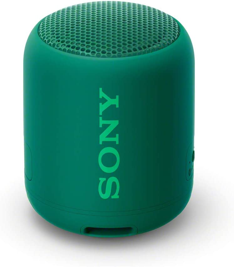Sony SRS-XB12, Altavoz, Inalámbrico y alámbrico, MicroUSB, Tamaño Único, Verde