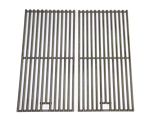 (Hongso SC1702 (2-Pack) BBQ Solid Stainless Steel Wire Cooking Grid, Cooking Grate Replacement for 2 Burner Char-Broil 463645015, 466645015, 466645115 and Others.)