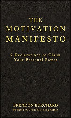 The Motivation Manifesto 9 Declarations To Claim Your Personal Power Burchard Brendon 9781401948078 Amazon Com Books