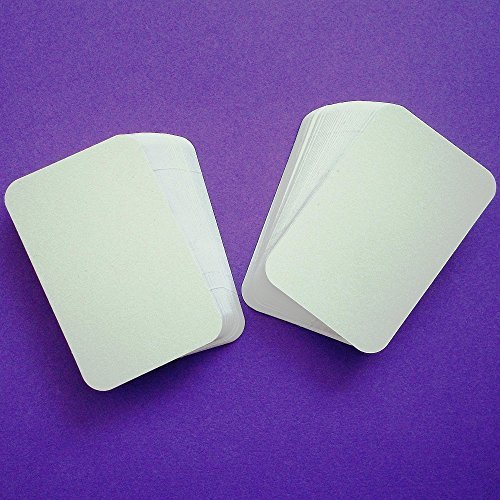 100 x white rounded corner blank business cards 250gsm card uk 100 x white rounded corner blank business cards 250gsm card uk card crafts amazon office products reheart Gallery