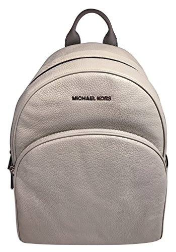 08336f5dd851 Galleon - MICHAEL Michael Kors Abbey Jet Set Large Leather Backpack (Pearl  Grey)