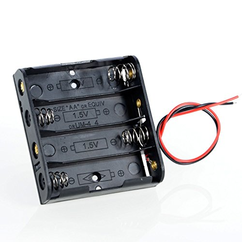 WINGONEER 4 x AA 6V Battery Holder Case Box Wired ON/OFF Switch and Cover