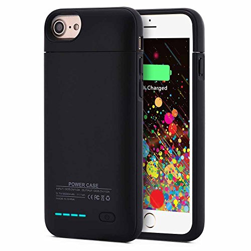 - Kujian iPhone 7 Plus Battery Case,4200mAh Slim Charging Case with Free Screen Protector for Mag Mount External Charger Case 5.5inch for iPhone 8 Plus/ 7 Plus/ 6 plus/6S Plus (Matt Black1)