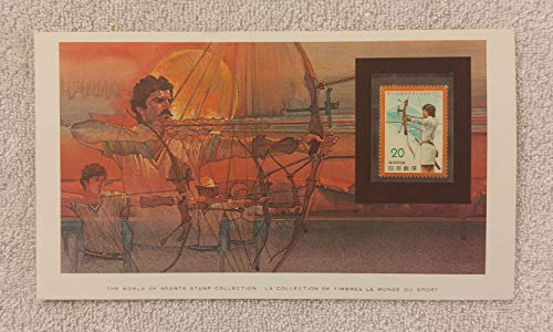 Archery - The World of Sports - Postage Stamp & Commemorative Art Panel - Franklin Mint (1982) - Japan ()
