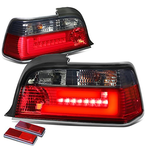 DNAMotoring TL-LED-3D-E3692-2D-SR Tail Light Assembly, Driver and Passenger Side -