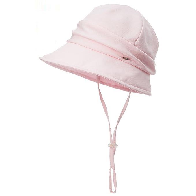 ea19f471 SIGGI Bucket Boonie Cord Brim Cap Fishing Hiking Sun Hats for Women UPF50+  Packable Pink at Amazon Women's Clothing store:
