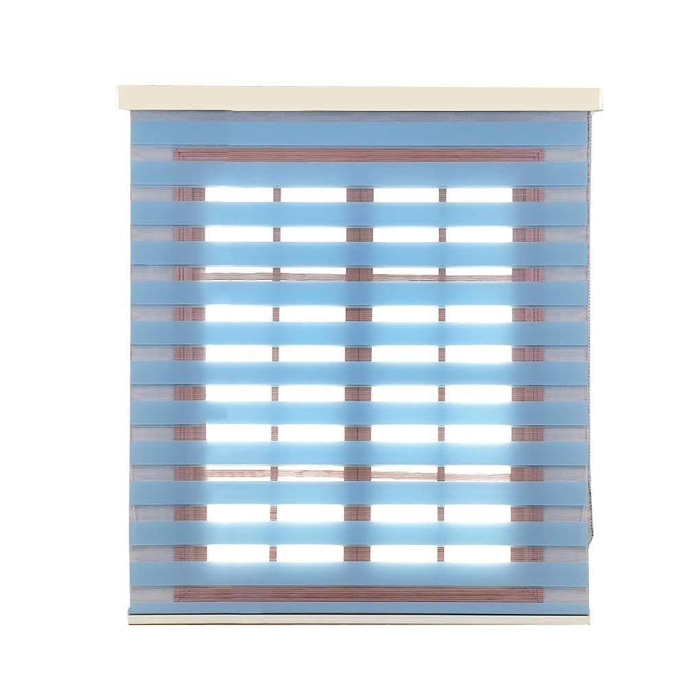 YXX-ロールスクリーン 台所の窓、居間/浴室のための遮光フィルターのローラーの陰のための停電のシマウマのローラーのブラインド (色 : 青, サイズ さいず : 120x200cm) 120x200cm 青 B07PBY79GQ