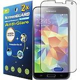 2x Samsung S5 i9600 Premium Anti-Glare Anti-Fingerprint Matte Finishing LCD Screen Protector Cover Kit (Package by GUARMOR)