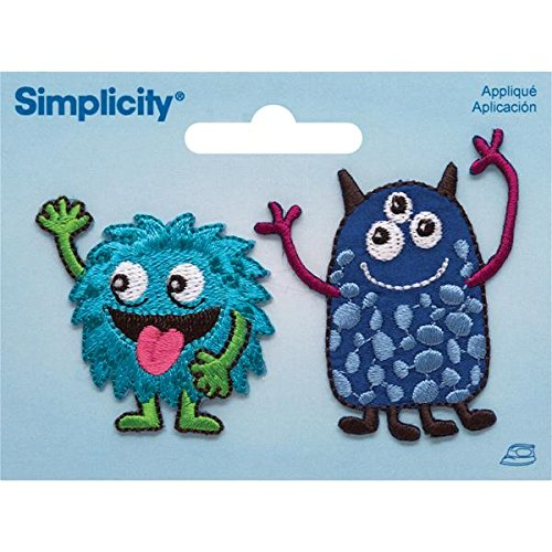 - Simplicity Fun Monsters Iron On Patches - Set of 2