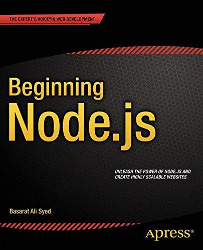 Beginning Node.js by Apress