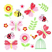 17 Count Premium Butterflies, Ladybugs, and Flower 3D Foam Stickers