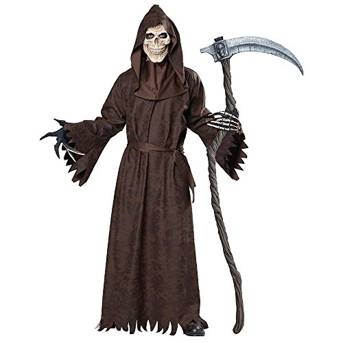 California Costumes Men's Ancient Reaper, Brown, Large/X-Large (Scary Couples Costume)