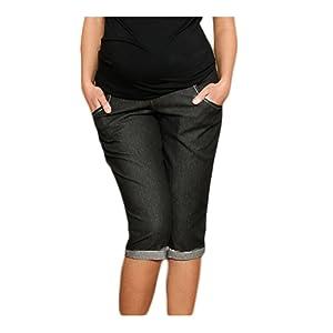 Mija - Capri Denim Pantacourt en jeans de maternité pantalons courts 9046