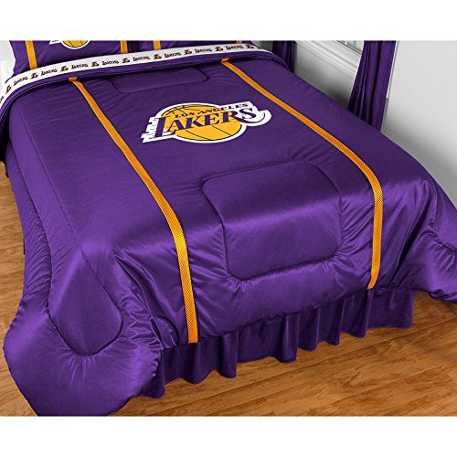 Los Angeles Lakers 5 Pc TWIN Comforter Set (Comforter, 1 Flat Sheet, 1 Fitted Sheet, 1 Pillow Case, 1 Sham) SAVE BIG ON BUNDLING!