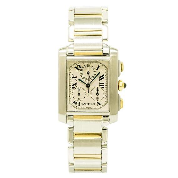 Cartier Tank Francaise Cuarzo Mens Reloj 2303 (Certificado) de Segunda Mano: Cartier: Amazon.es: Relojes