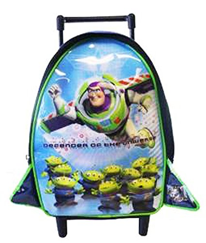 daea72f45e6 Disney Toy Story Rolling Backpack - Alien   Flying Buzz Toddler Size  Wheeled Backpack  Amazon.co.uk  Shoes   Bags