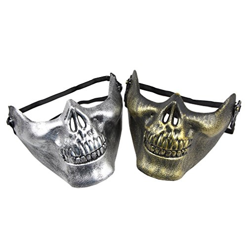 One Pair Halloween Skull Skeleton Airsoft Face Mask Costumes Party Accessory (Skeleton Halloween Mask)