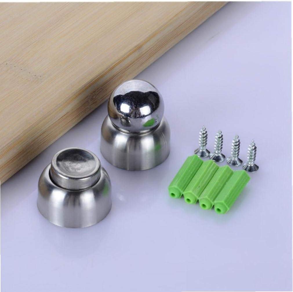 short Door Suction Magnetic Door Stopper Bathroom Bedroom Mini Door Stops with Screws Casecover 5.6cm Stainless Steel