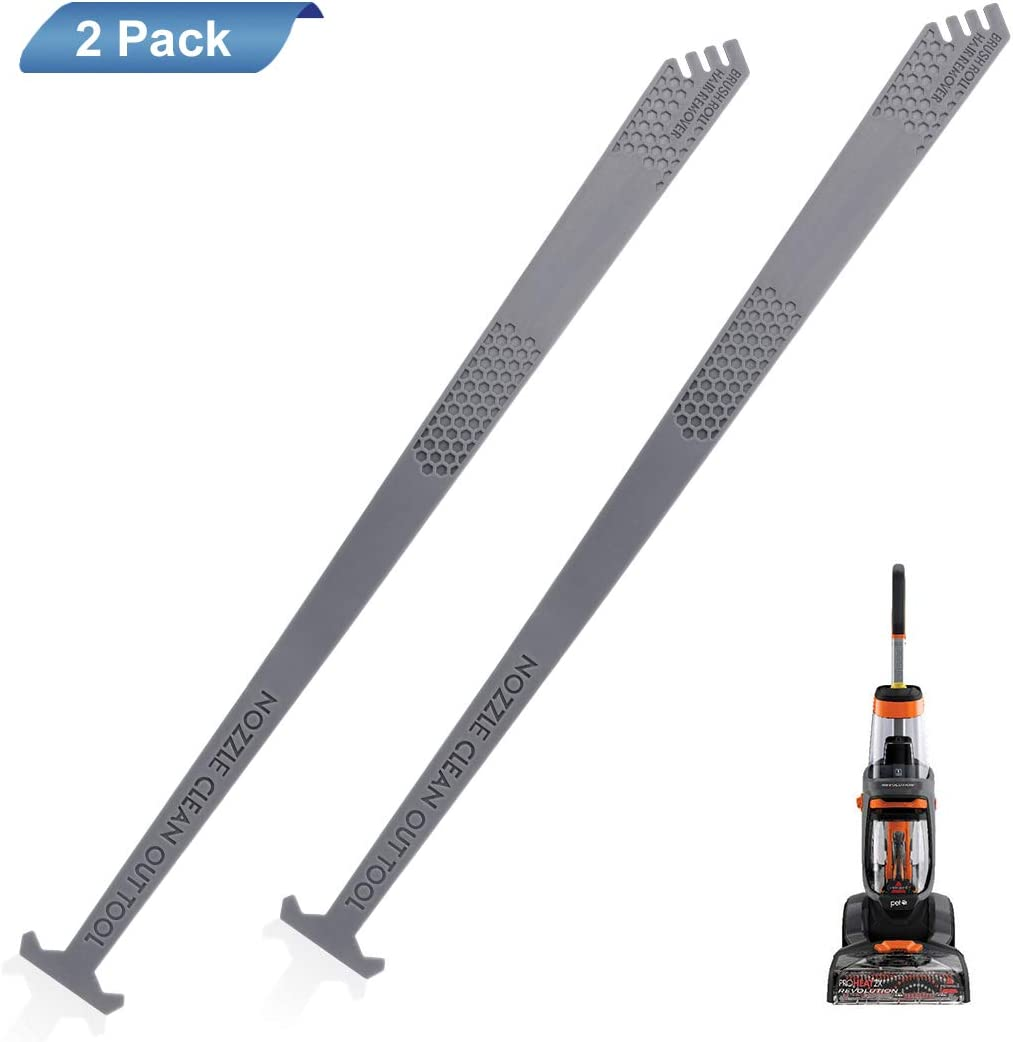 LANMU Nozzle Cleaning Out Tool Compatible with Bissell ProHeat 2X Revolution Series Models 1548, 1550, 1551, Replaces Parts# 1606433/160-6433 (2-Pack)