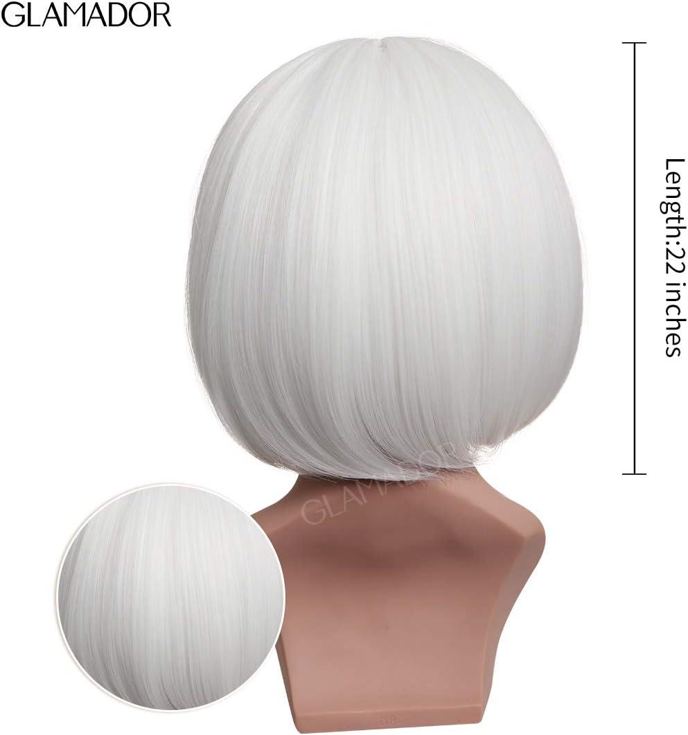CORAFRITZ Courte Vague Bob Perruque Brun Fonc/é Mixte Blond Naturel Cosplay Costume Haute Temp/érature Synth/étique Postiches