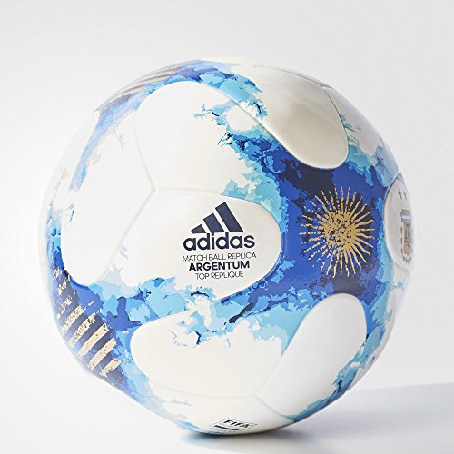 Fifa Confederations Cup (adidas Performance Confederations Cup Top Replique Soccer Ball (White/POBLUE/GOLDMT, Size 5))